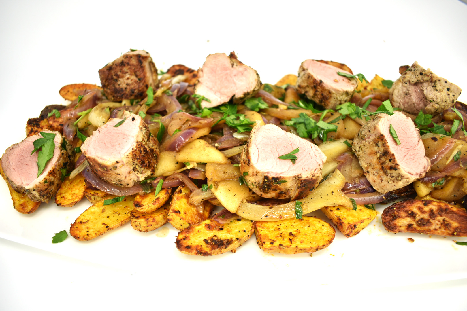 Pork Tenderloin with Apples Red Onion and Fennel - On The ...